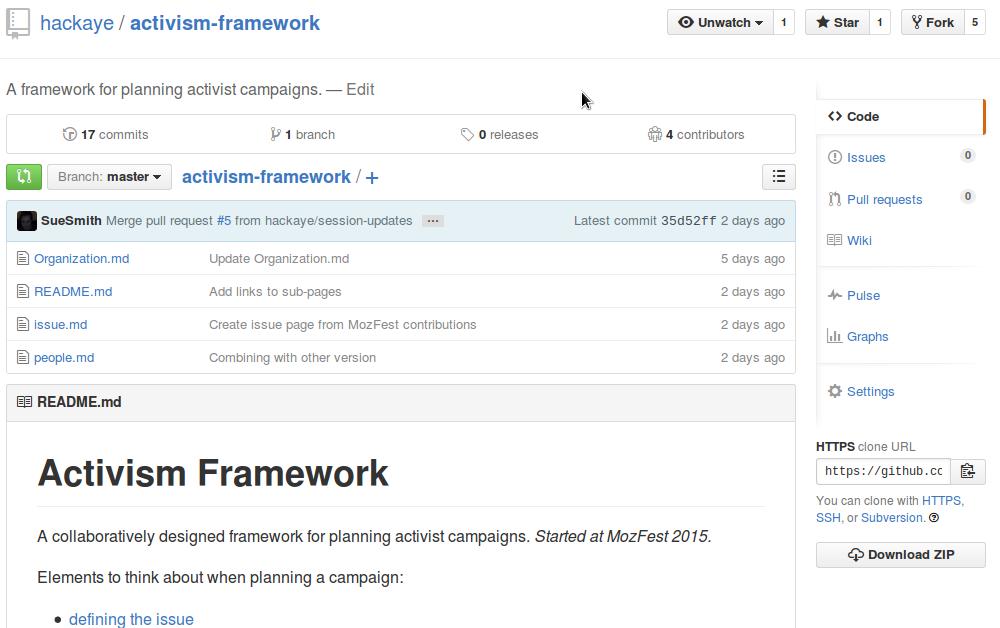 Activism Framework repo